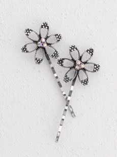 Open Flower Bobby Pin
