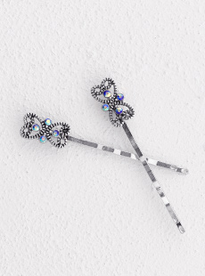 Sparkling Blue Bobby Pin