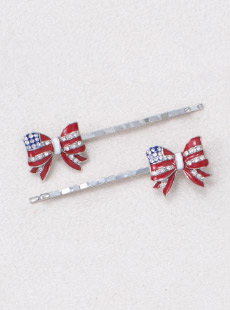 [PAIR] BP-2459-1  Liberty Bow Bobby Pin, Pair