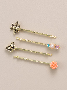 BP-2556  Garden Collection Bobby Pins, Set of 4
