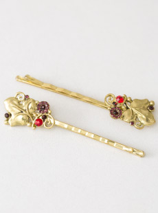 Ruby Bouquet Brass