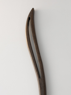 HS-3123-1  Curve Long, Walnut. Approximate Length: 165mm