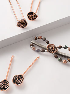 Copper Rose Set