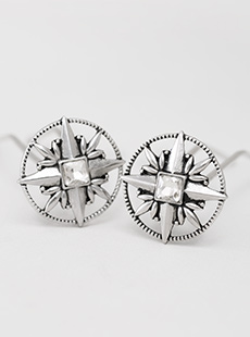 UP-2483-L  Compass Rose U-Pin